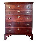 Five Drawer Country Chippendale Chest Of Drawers
