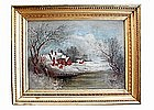 Mid 19th Century Snowy Landscape