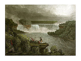 Engraving, Scenic American Landscape