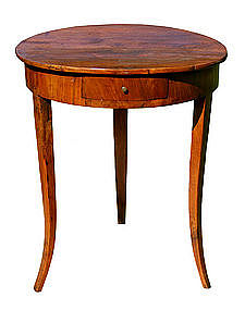 Antique French Round Cherry Side Table