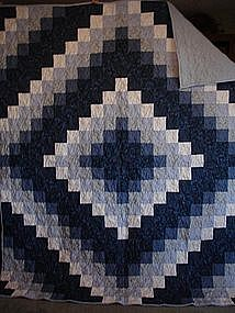 Blue Trip Around the World Quilt