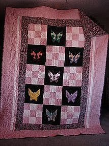 Pink Butterfly Quilt