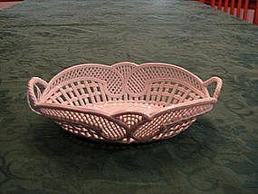 Elegant Handmade Porcelain Basket
