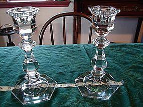 Lead Crystal candle sticks
