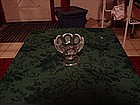 Fostoria clear coin glass compote