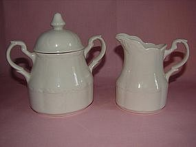 Meakin Sterling Colonial Cream and sugar