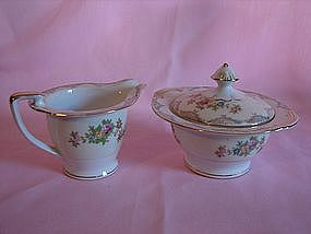 Mayfair china cream n sugar set