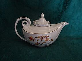 Hall Autumn Leaf Aladdin teapot