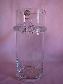 Krosno crystal rope and bow vase.