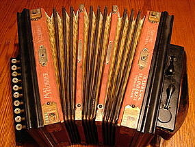 Hohner 1904 Steel reed Accordion.