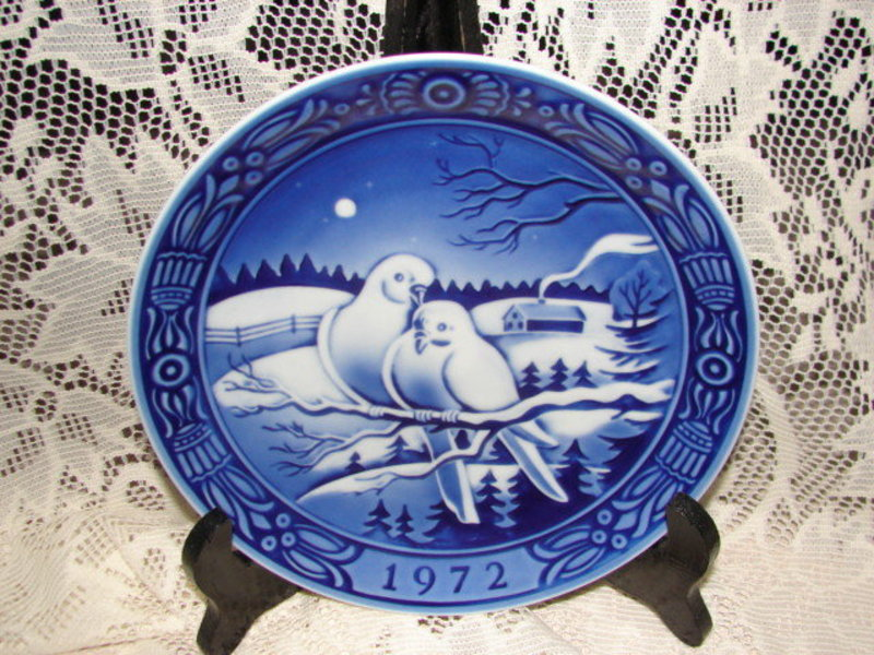 George Jensen First Issue 1972 Christmas Plate