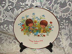 Moppets 1976 Mothers Day Plate by Gorham