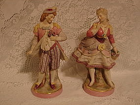 Sitzendorf Voight large figurine pair
