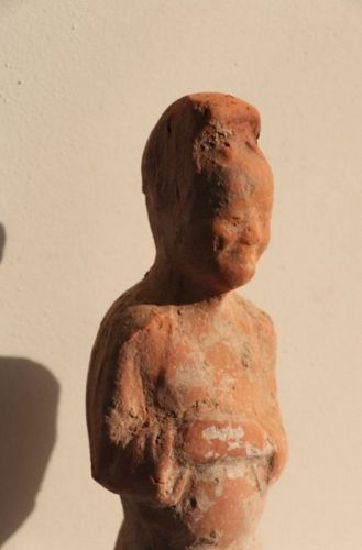 Chinese Tang Dynasty Terracotta Attendant