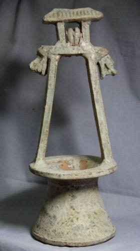 Chinese Han Dynasty Lead Green Glaze Well