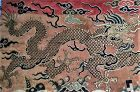 """""""Monthly Special"""" Chinese 18th Century Gold Dragon Brocade Fragment"""