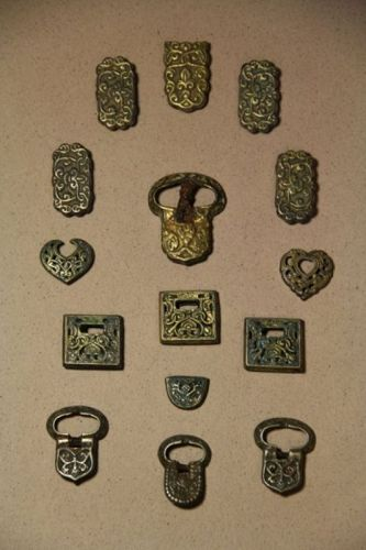 Set of Chinese Liao/ Jin Dynasty Gilt Bronze Costume Accessories