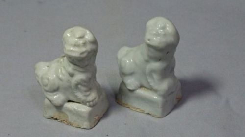 Pair of Chinese Ming Dynasty Dehua Incense Holders