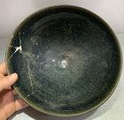 Chinese Jin to Yuan Dynasty Oil Spots Big Bowl (Reattached)