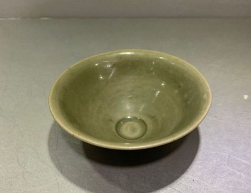 Chinese Northern Song Dynasty Yaozhou Celadon Tea Bowl