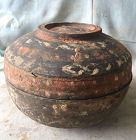 Chinese Han Dynasty Pottery Painted Covered Box
