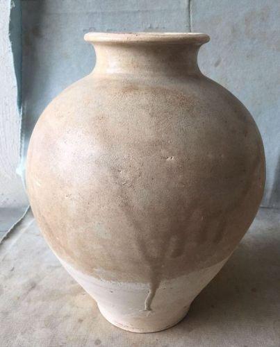 Chinese Sui Dynasty White Glaze Jar
