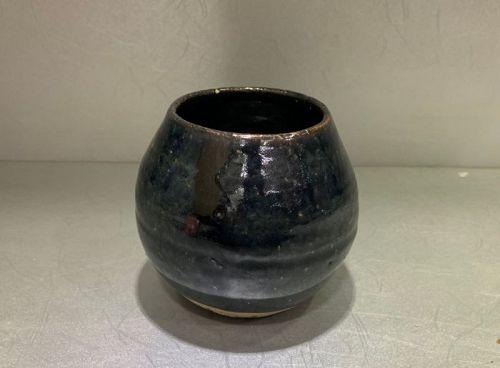 Chinese Ming Dynasty Black Glaze Lotus Bud Bowl