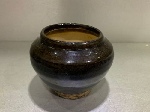 Chinese Ming to Qing Dynasty Black Glaze Jar