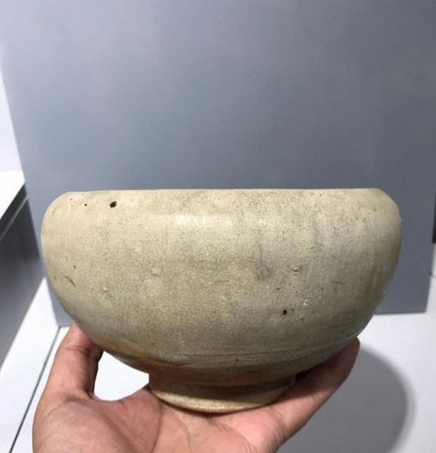 Chinese Tang Dynasty Celadon Alms Bowl