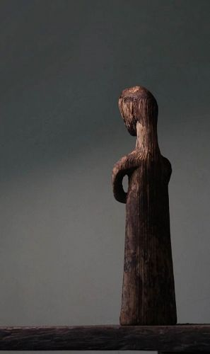 Chinese Warring States Carving Wooden Figure