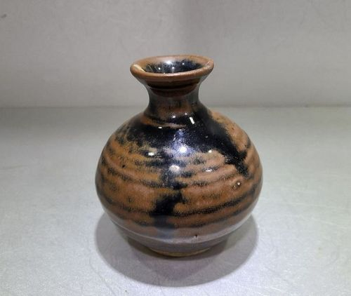 Chinese Qing Dynasty Brown Glaze Yuhuchun Vase