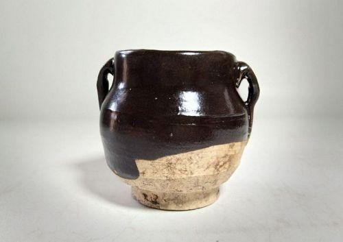 Chinese Yuan Dynasty Brown Glaze Jar