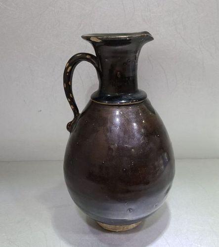 Chinese Jin to Yuan dynasty Yaozhou Black Glaze Ewer