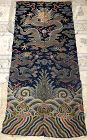Chinese Qing Dynasty Imperial Dragon Robe Brocade Fragment