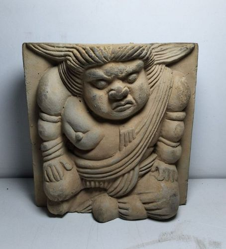 Chinese Song Dynasty Carver Hercules Brick