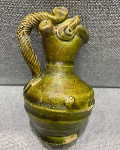 Chiinese Tang Dynasty Green Glaze Chicken Head Ewer