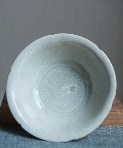 Chinese Southern Song Dynasty Hutian Foliated Bowl