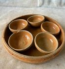 Set of Chinese Southern Dynasty Pottery Cups with Tray