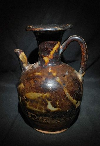 Chinese Song Dynasty Tortoiseshell Glaze Ewer Perfect Condition