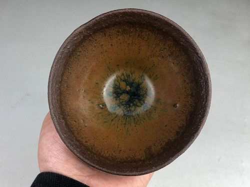 Chinese Song Dynasty Jian Ware Hare's Fur Temmoku Tea Bowl