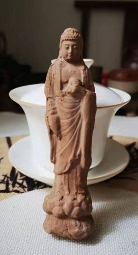 Chinese Song Dynasty Pottery Molded Buddha
