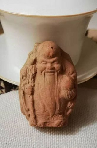 Chinese Song Dynasty Pottery Longevity Figure