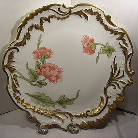 Hand Painted French Limoges China Porcelain Plate