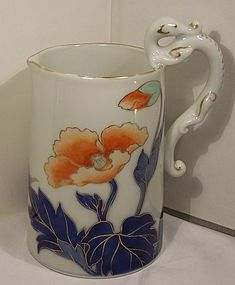 Rare Japanese Studio Porcelain Fukagawa Milk Pitcher