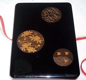 Antique Meiji Japanese Lacquer Box