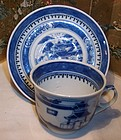 Early Chinese Export Porcelain Cup & Saucer Nanking