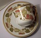 Antique Porcelain Haviland Limoges Art Nouveau Demitasse Cup & Saucer