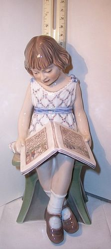 DJ Dahl Jensen Copenhagen China Figurine Precious Girl Reading Book