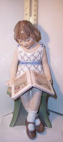 DJ Dahl Jensen Copenhagen China Figurine Precious Girl Reading Book