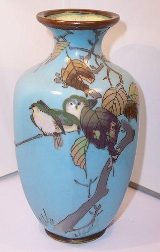 Antique Japanese Meiji Cloisonne Enamel Namikawa Sosuke Style Vase